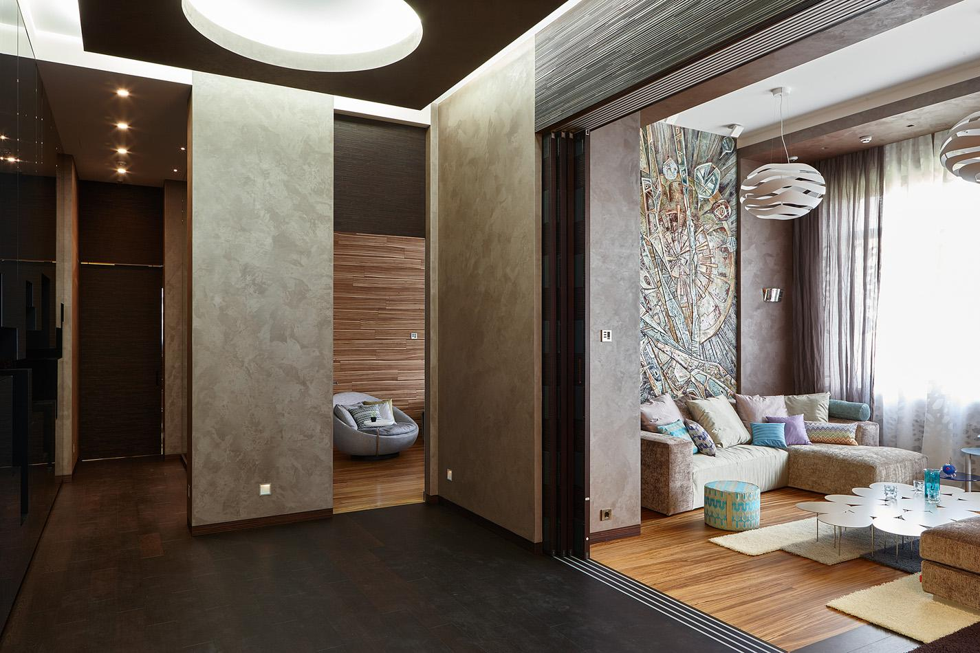 Luxury Private Villa Interior design, furnished with Laurameroni doors, wall panels and furniture in metal and wood