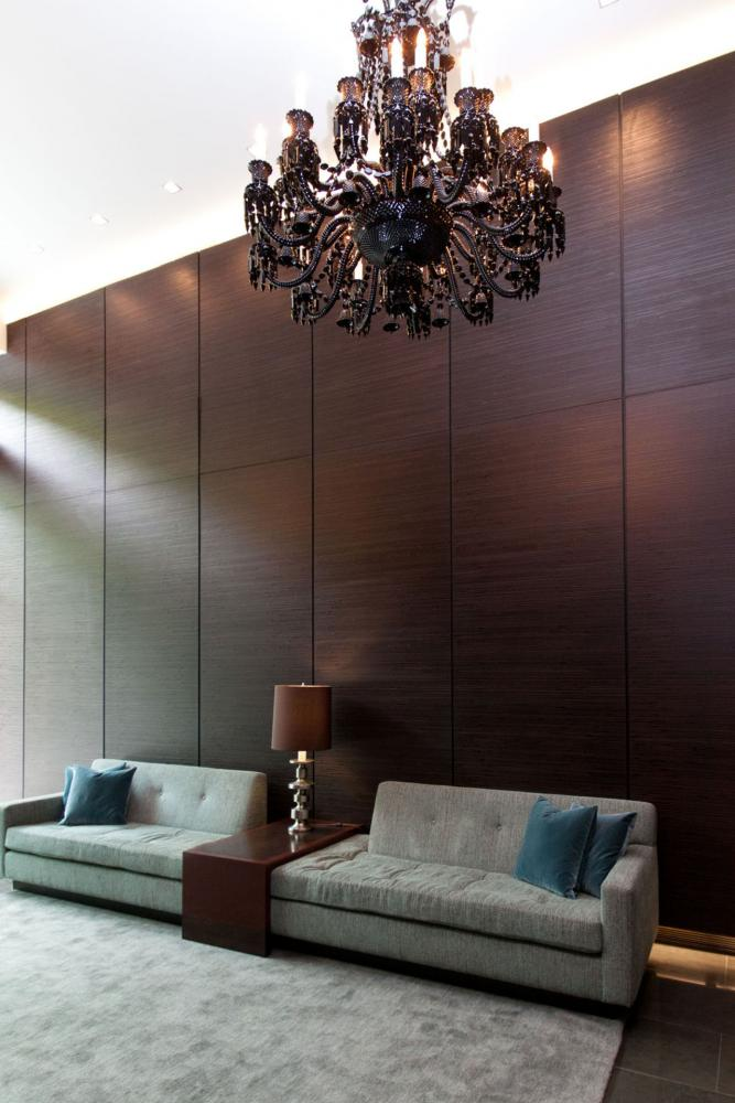 Decor Boiserie wall panels by Laurameroni inserted in the Rector Place interior design for a luxury modern lifestyle ambience