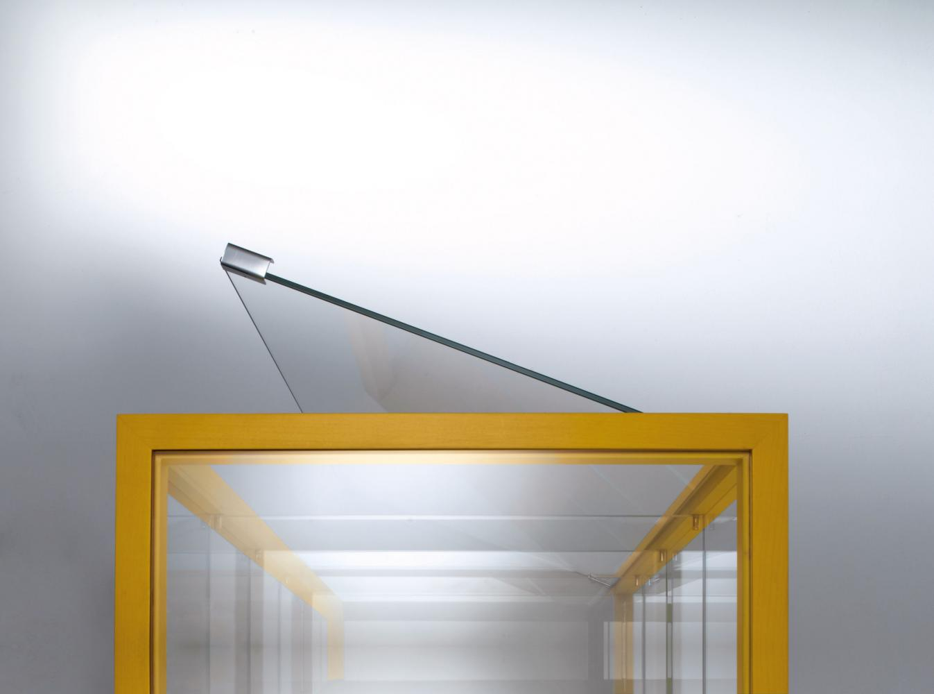 SA 03 Contemporary glass and steel high dresser by Sottsass Associati