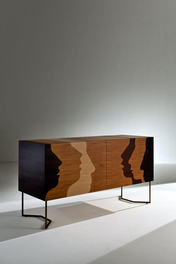 Silenzio Intarsia limited edition sideboard with inlays by Robert Hromec