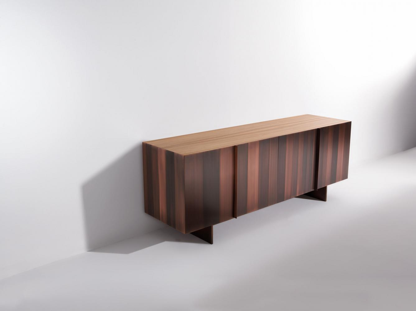 ST 12 Luxury custom size low sideboard clad in copper