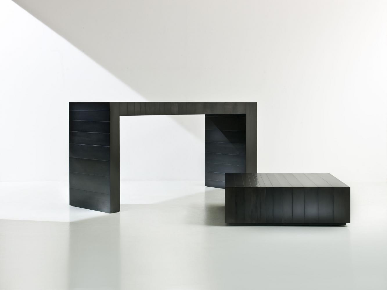 ST 21 Luxury modern console table cladded in black iron