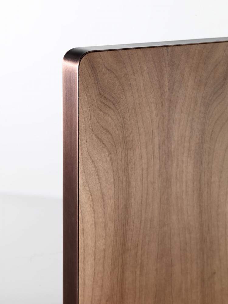 ST 47 Luxury screen cladded in brass, copper, iron or stainless steel