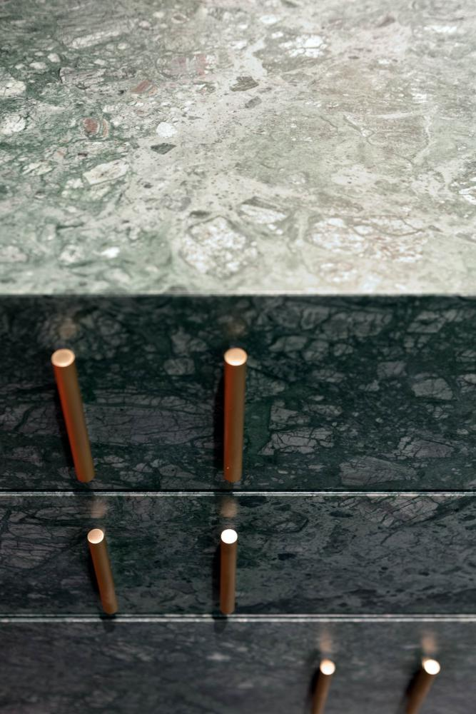 modular luxury storage system with marble drawers