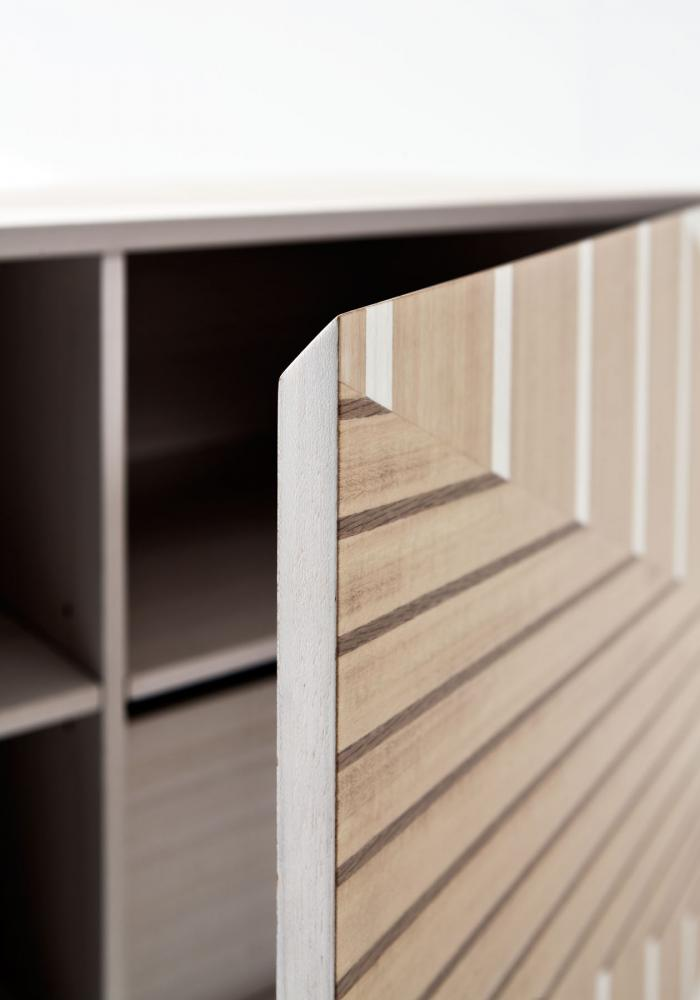 Twill Intarsia limited edition sideboard with inlays by Bartoli Design