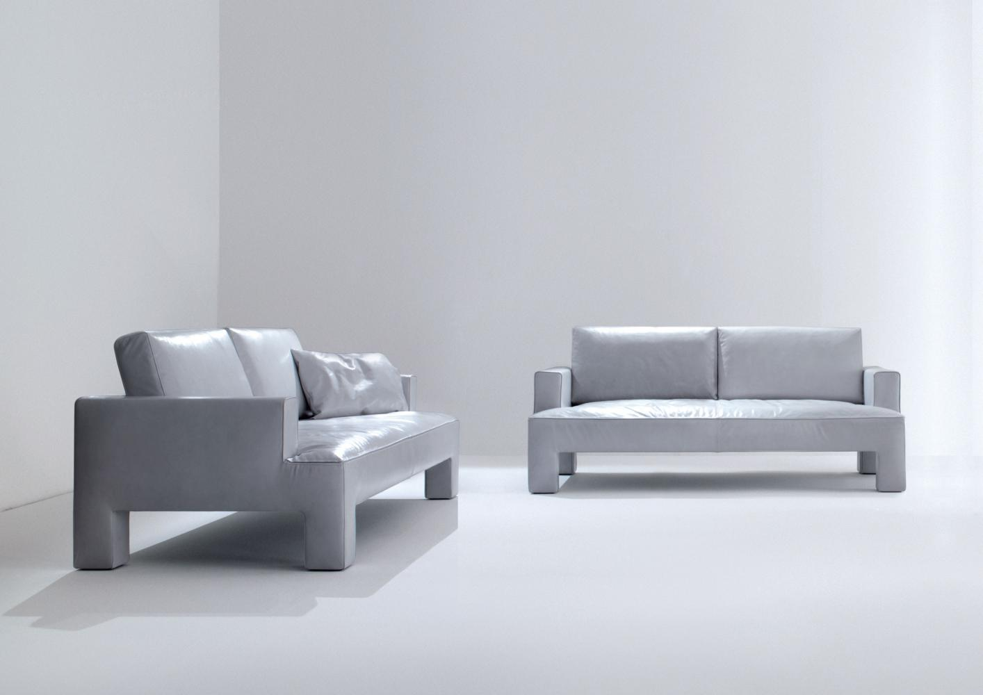 Two and three seater modern luxury sofa in leather or fabric