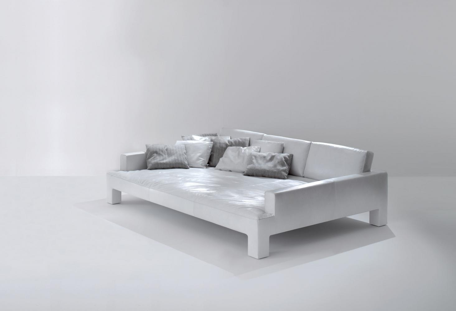 Modern luxury isle sofa in leather or fabric