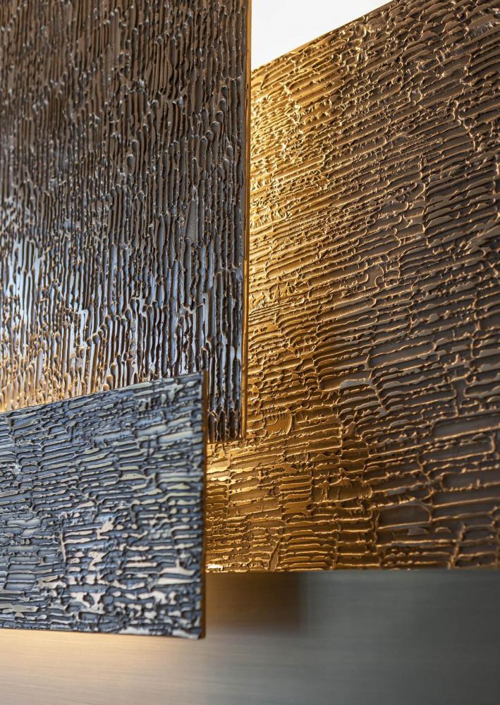 Wall or ceiling mordern modular led lighting system in brass