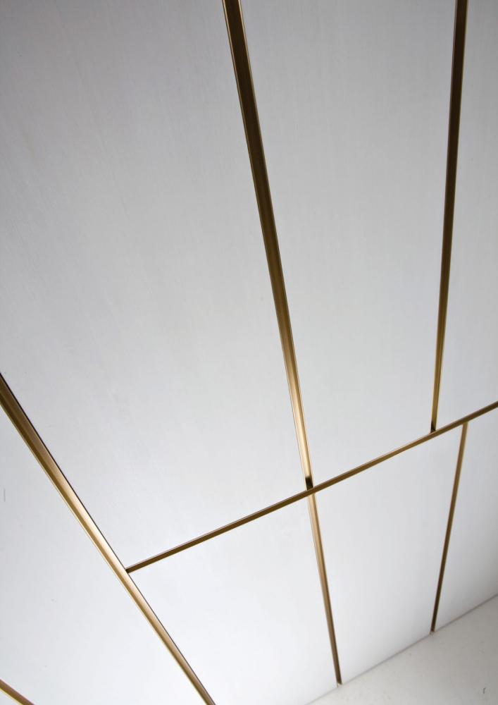 Line is a custom made modern luxury wall panels with brass finish profiles