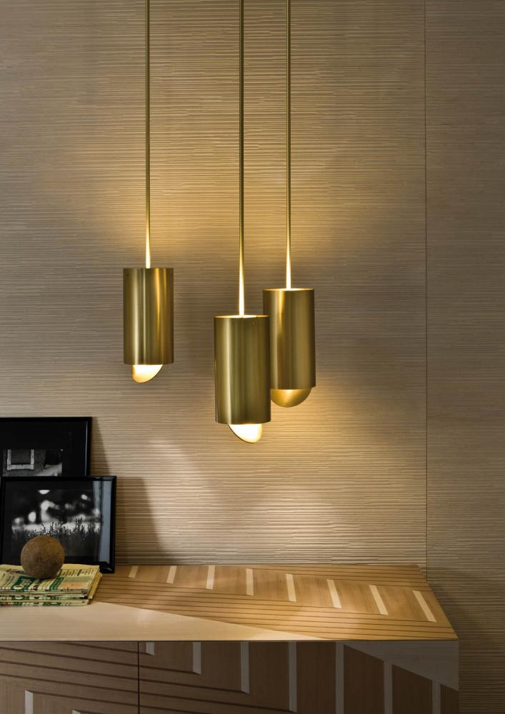 The Mayfair ceiling l& is a truncated inverted cone made of elements covered with goatskin parchment and metal. & News - New Lighting Catalogue | Laurameroni azcodes.com