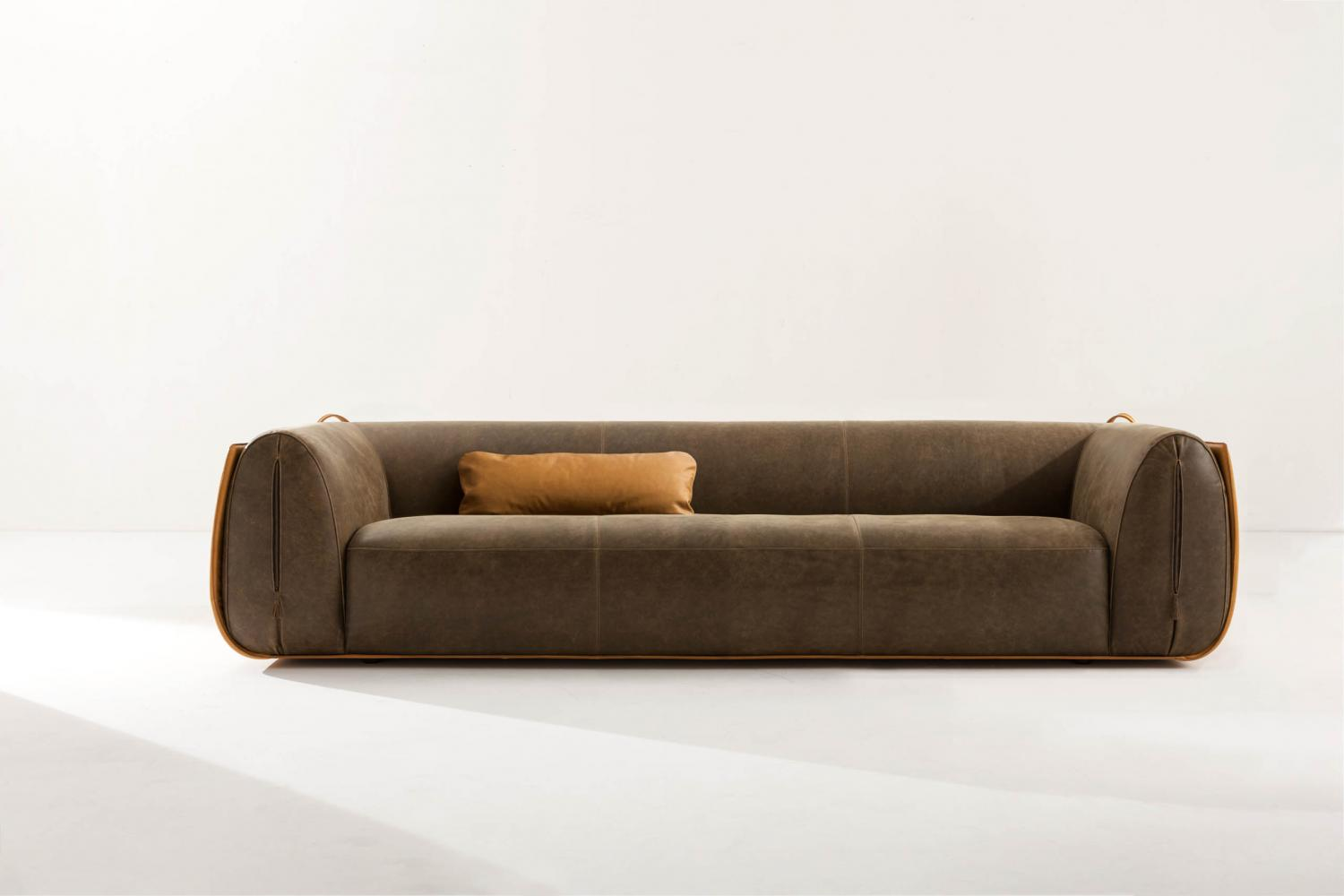 Meir is a customizable modern luxury sofa in leather