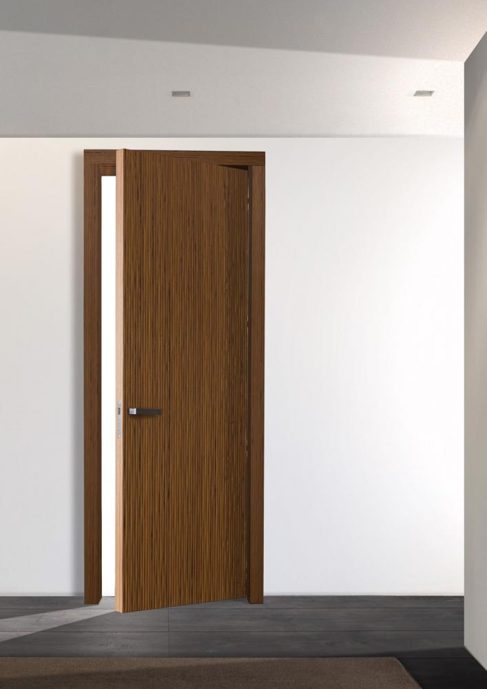 Custom made hinged doors with Onda carved wood texture