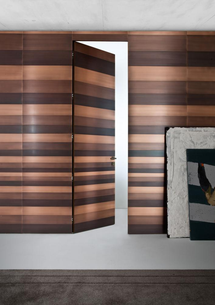 Stars Wall Panels are custom made modern metal cladded wall panels in brass, copper or iron