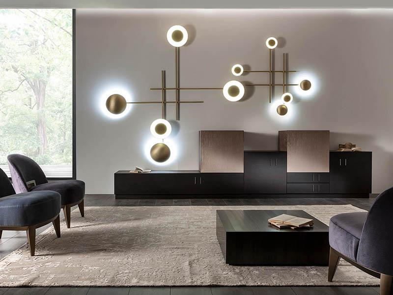 Laurameroni luxury modern designer lamps in copper or brass and fine metals for contemporary interior decor and design
