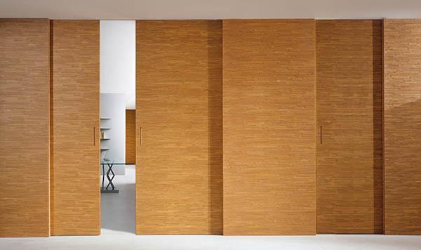 Laurameroni luxury modern integrated sliding doors for a bespoke artisanal interior design and decor