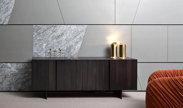 Laurameroni luxury modern designer table lamps in copper or brass and fine metals for contemporary interior decor and design