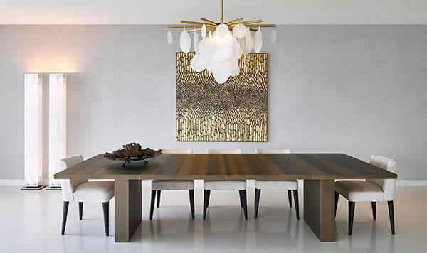 laurameroni metal table luxury dining room for modern interior design