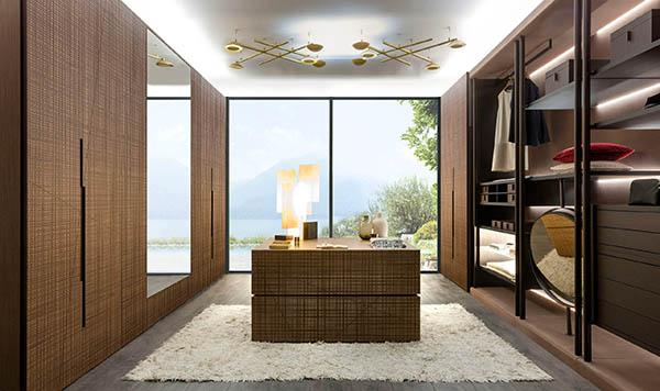 Laurameroni luxury modern made to measure day and night wardrobes or walk in closets for contemporary bedroom or living room interior decor and design