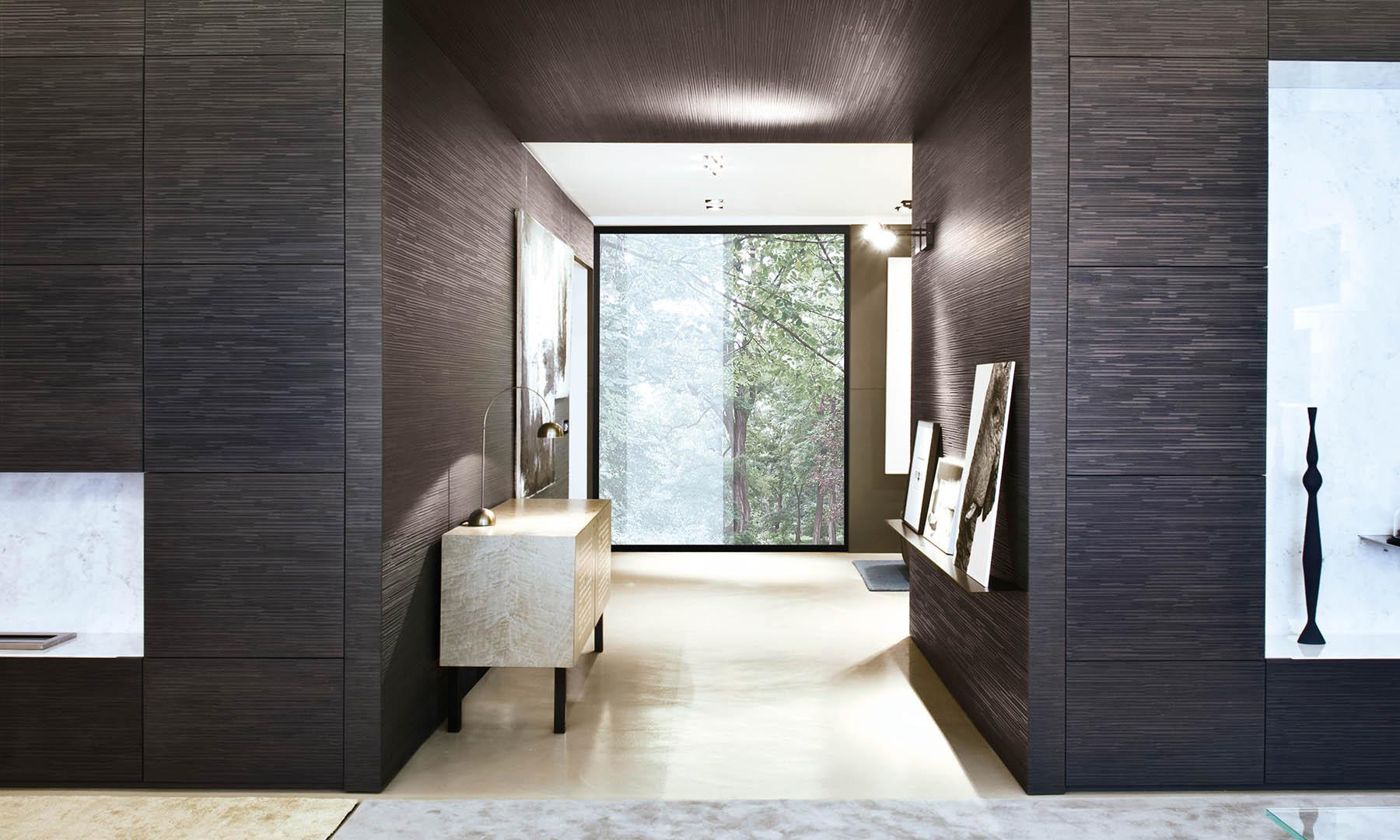 laurameroni luxury modern modular day cabinet system in carved wood