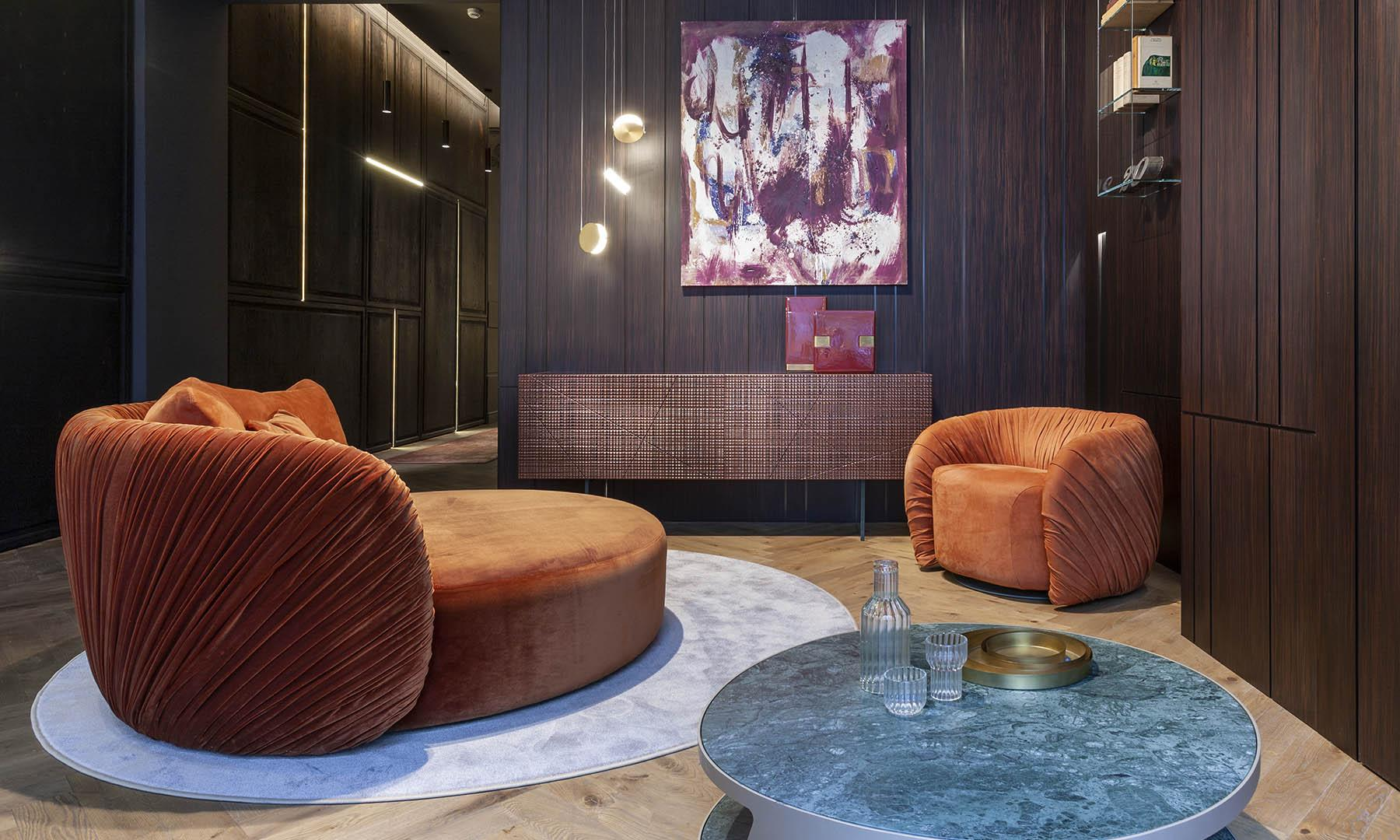 Modern luxury interior design ambience with bespoke funiture