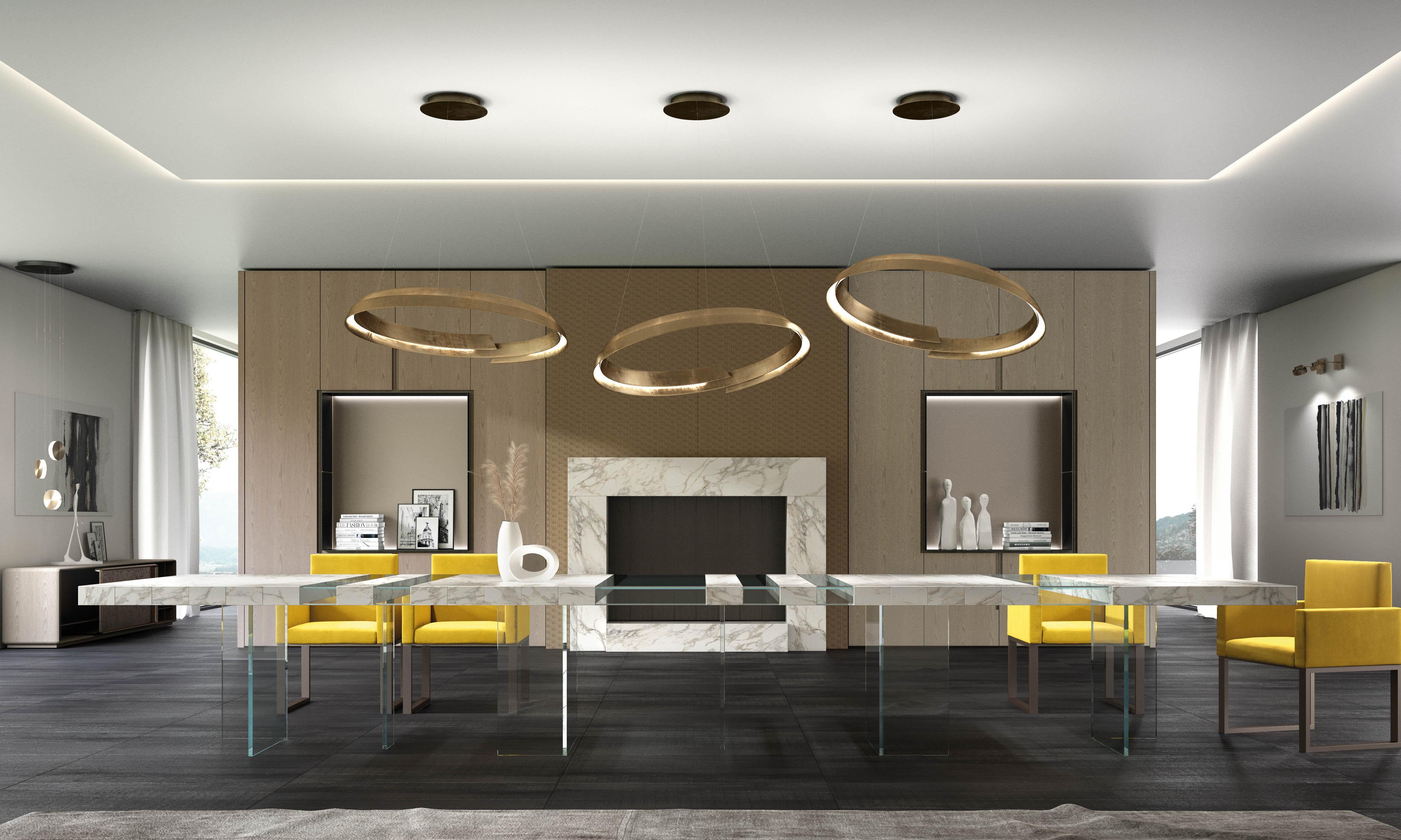 Laurameroni made to measure modular table customizable in luxury materials
