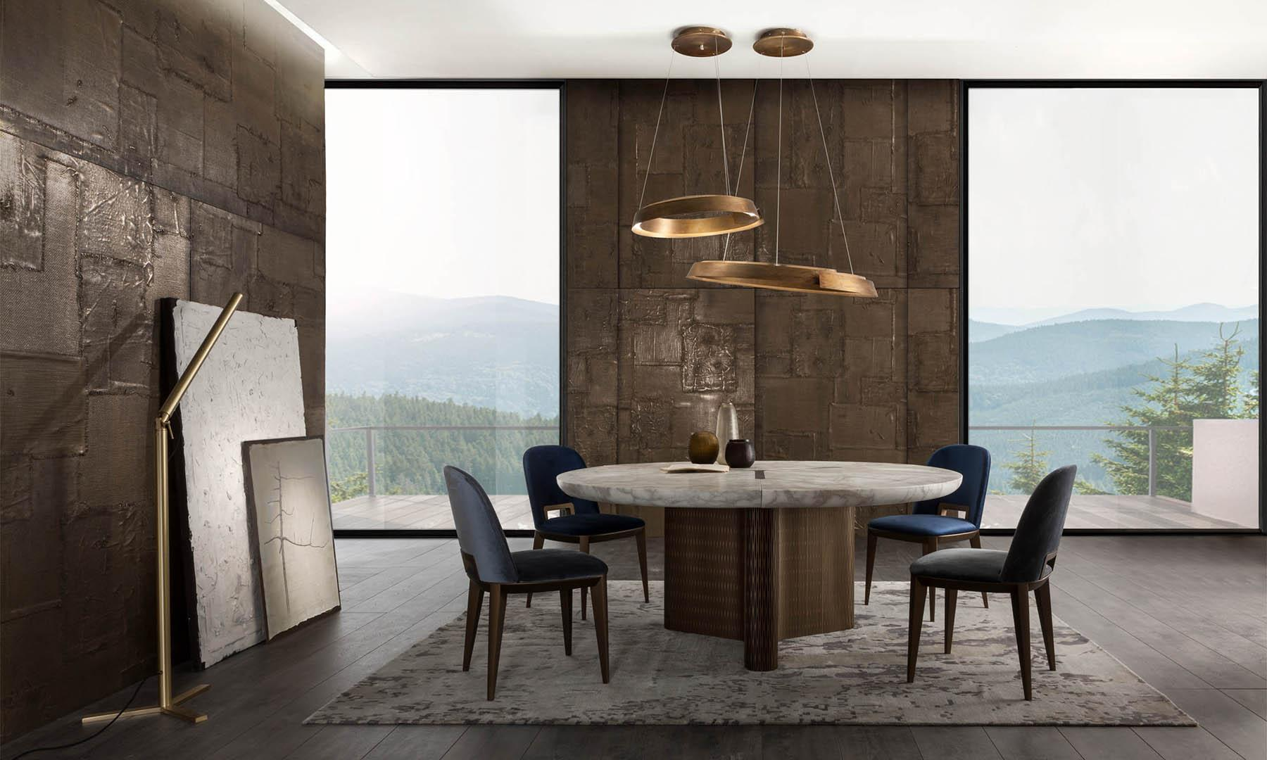 laurameroni infinity modular table for a luxury interior design