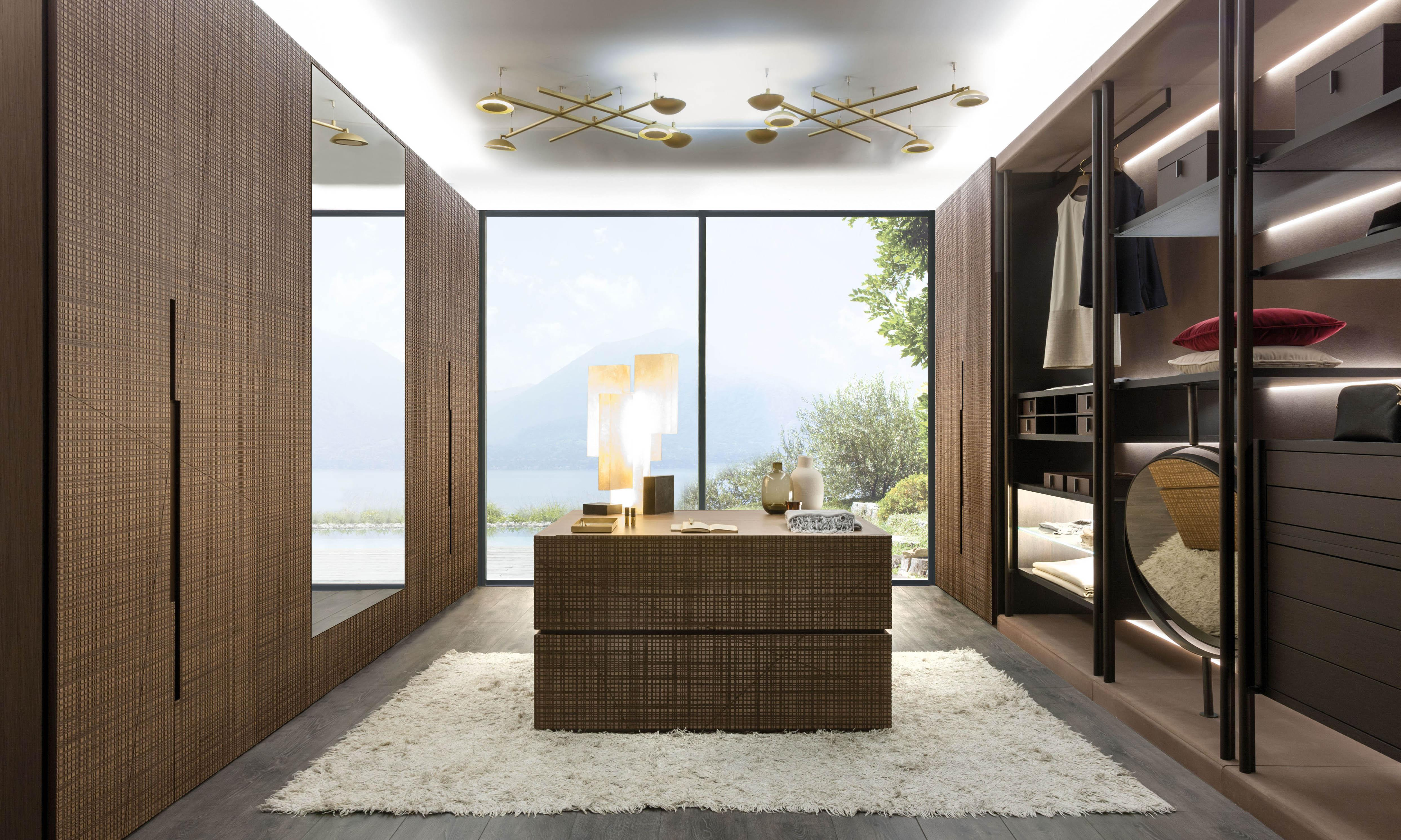 Laurameroni luxury modern integrated wardrobes and walk-in closets for a made to measure bedroom interior design and decor