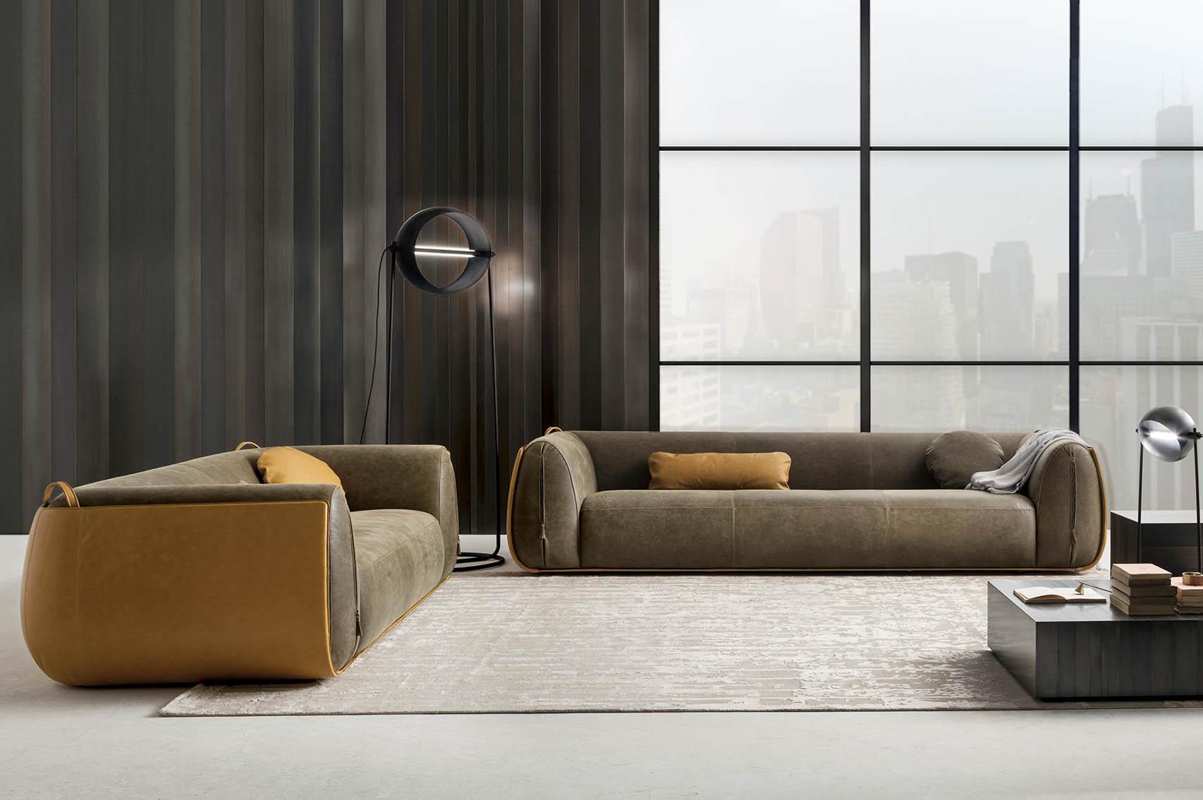 Laurameroni luxury modern designer floor lamps in copper or brass and fine metals for contemporary interior decor and design