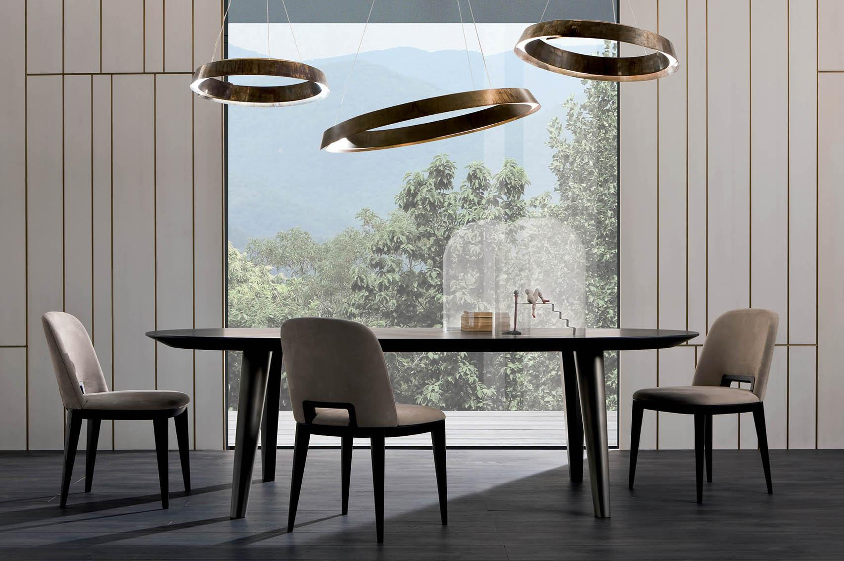 Laurameroni luxury modern made to measure bespoke wooden tables for contemporary interior decor and design